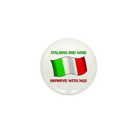 Italians and Wine Improve With Age Mini Button (10