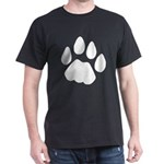 Cat Track Pawprint Black T-Shirt
