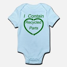 I Contain Recycled Parts Onesie