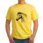 Black Line Horse Yellow T-Shirt