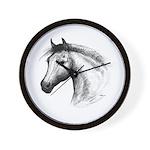 Black Line Horse Wall Clock