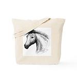 Black Line Horse Tote Bag