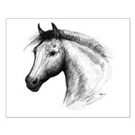Black Line Horse Small Poster