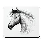 Black Line Horse Mousepad