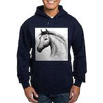Black Line Horse Hoodie (dark)