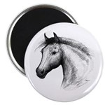 """Black Line Horse 2.25"""" Magnet (100 pack)"""