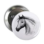 "Black Line Horse 2.25"" Button (100 pack)"