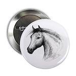 """Black Line Horse 2.25"""" Button"""