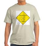 Dangerous Curves Sign Ash Grey T-Shirt