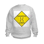Dangerous Curves Sign Kids Sweatshirt