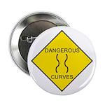 "Dangerous Curves Sign 2.25"" Button (100 pack)"