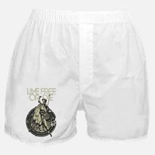 Minuteman! Live Free or Die!! Boxer Shorts