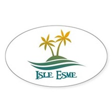 Isle Esme Oval Decal