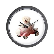 Cute Pink poodle Wall Clock