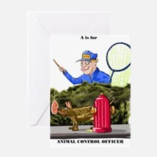 funny dog catcher gift produc Greeting Card
