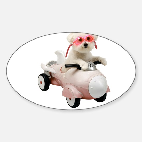 Bichon Fun #4 Oval Decal