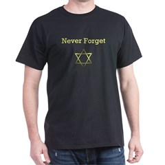 Holocaust Remembrance Star of David Black T-Shirt