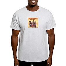 ANIMAL RESCUE-FERRET Ash Grey T-Shirt