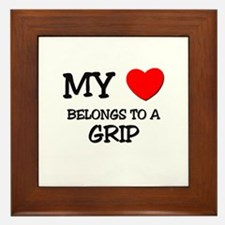 My Heart Belongs To A GRIP Framed Tile