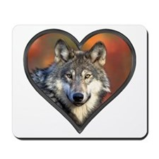 Wolf Heart Mousepad