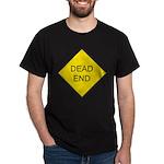 Dead End Sign Black T-Shirt