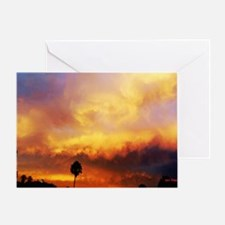 Burned Skies Greeting Card