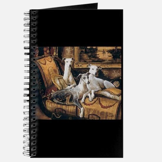 Whippets Journal AntoinetteArt