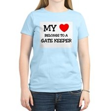 My Heart Belongs To A GATE KEEPER T-Shirt