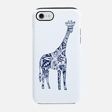 Navy Giraffe iPhone 7 Tough Case