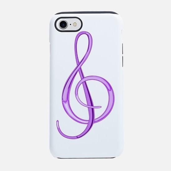 TreblePurple.png iPhone 7 Tough Case