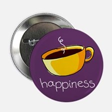 Happiness is Coffee Button