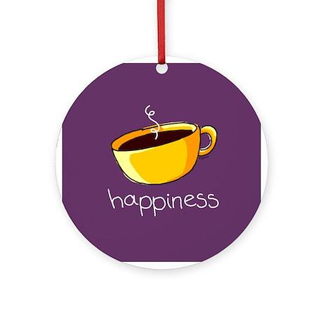 Happiness is Coffee Keepsake (Round)