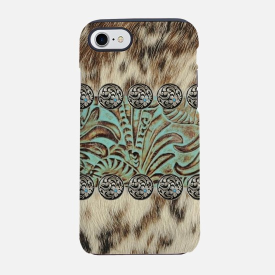 cow hide western leather iPhone 7 Tough Case