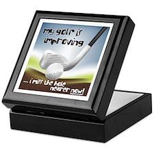 Golf Improving Keepsake Box