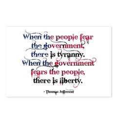 Tyranny/Liberty Postcards (Package of 8)
