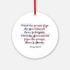 Tyranny/Liberty Ornament (Round)