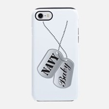 Cute Navy Baby Dog Tags iPhone 7 Tough Case