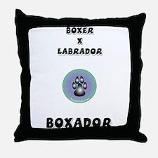 Boxador Throw Pillow