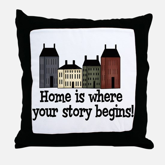 Home Story Throw Pillow