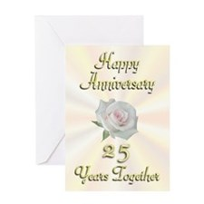 Anniversary 25 Years Greeting Card