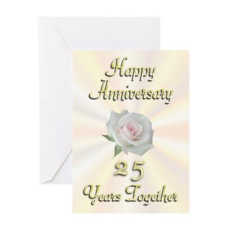 Anniversary 25 Years Greeting Card