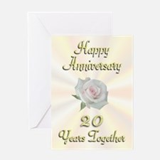 Anniversary 20 Years Greeting Card