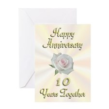 Anniversary 10 Years Greeting Card
