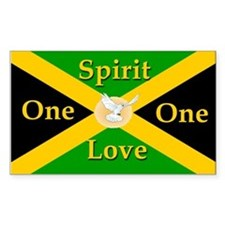 One Love One Spirit - Rectangle Decal