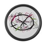 Wine Diva! Large Wall Clock