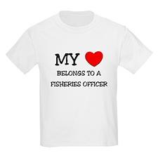 My Heart Belongs To A FISHERIES OFFICER T-Shirt