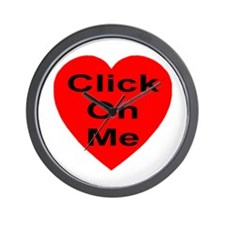 Click On Me Wall Clock