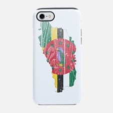 Dominica Flag and Map Wood.png iPhone 7 Tough Case
