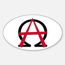 Christain Anarchy Oval Decal
