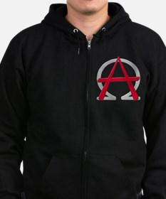 Christain Anarchy Zip Hoodie (dark)